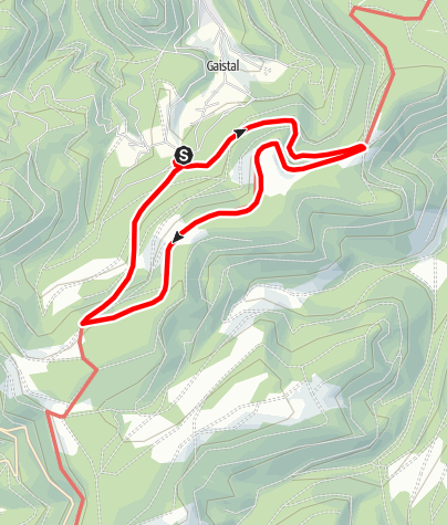 Karte / Rundweg Gaistal Skiheim - Weithäusleplatz - Westweg - Hahnenpfalzhütte - Skiheim