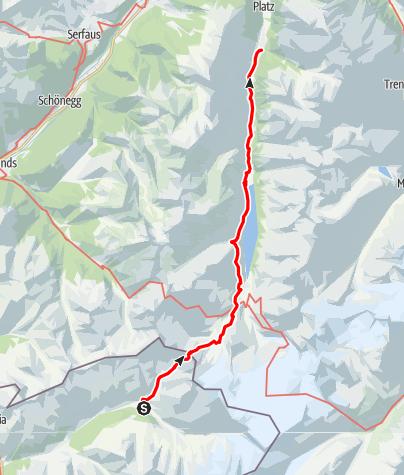 Karte / Melag/Langtauferer Tal - Feichten/Kaunertal