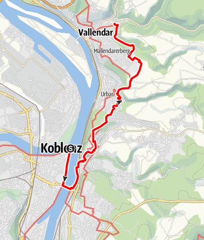 Karte / SP2 Koblenz - Schönstatt