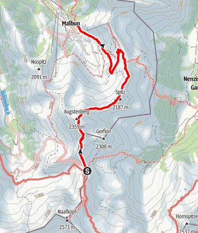 Karte / Liechtensteiner Panoramaweg