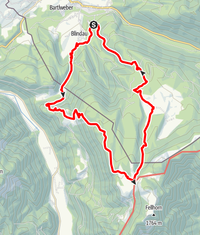 Karte / Rundtour Blindau -> Straubingerhaus
