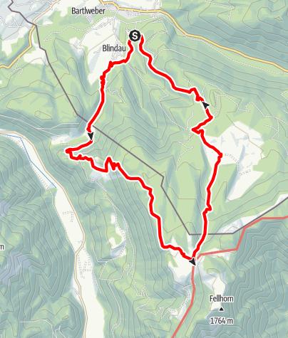 Map / Rundtour Blindau -> Straubingerhaus