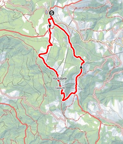 Map / Bödele - Hochälpele - Runde
