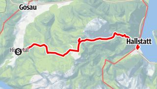Karte / Gosau-Hintertal-Hohe-Scheibe-Hallstatt