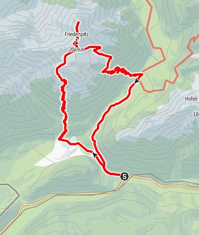 Map / Rundtour zu Friederspitz und Frieder