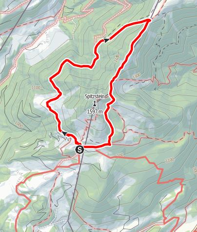 Karte / Rund um den Spitzstein