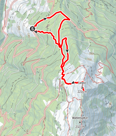 Karte / Largoz - Von der Krepperhütte über die Largozalm.