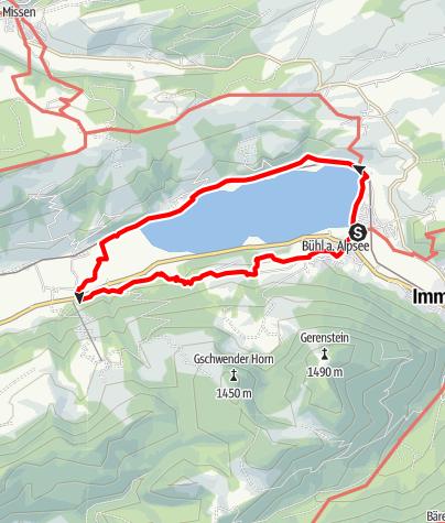 Karte / Großer Alpsee