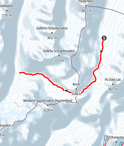 Karte / Heidelberger hut to Jamtal hut