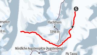 Karte / Heidelberger hut to Jamtal hut