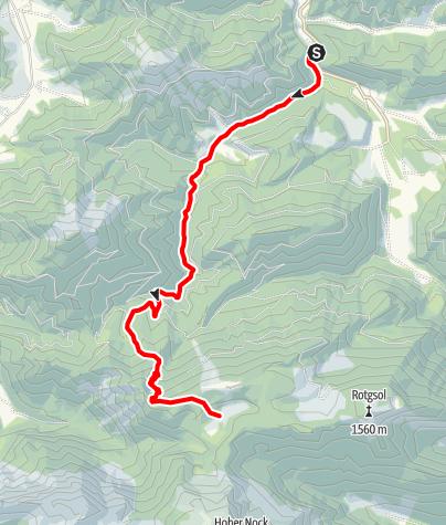 Karte / Feichtau über die Welchau
