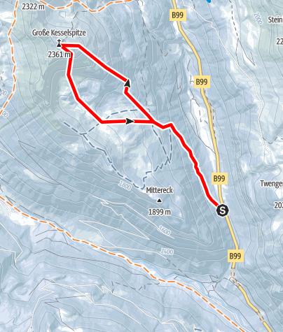 Karte / Kesselspitze (2361 m)