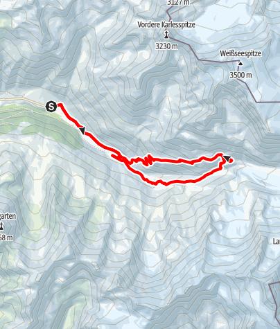 Karte / Zur Weißkugelhütte