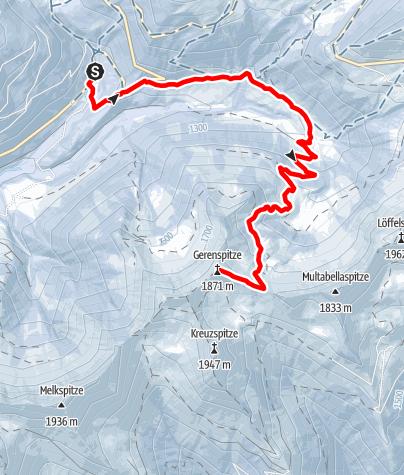 Karte / Gehrenspitze