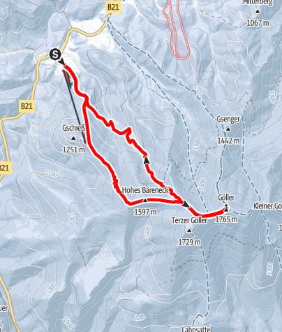 Karte / Göller Lahngraben