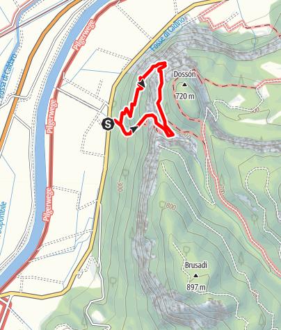 Map / Via Ferrata Rio Secco: Schluchtklettersteig südlich von Salurn