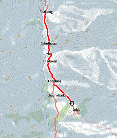 Map / 15.3. - Lukla-Phakding