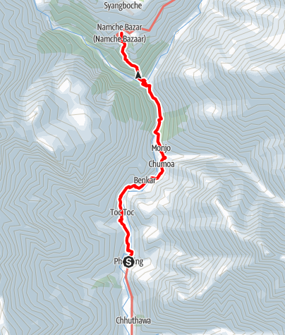 Map / 16.3 - Phakding to Namche Bazar