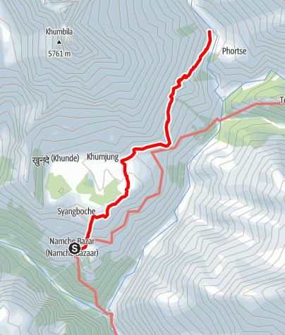 Map / 18.3. - Namche Bazar to Phorste Thanga