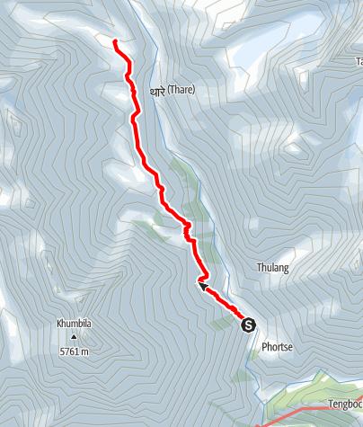 Map / 19.3. - Phortse Thanga to Machherma