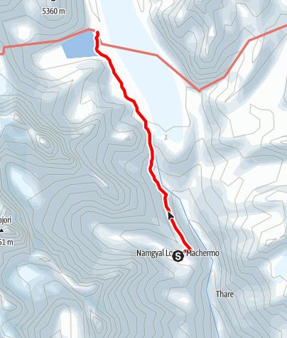 Map / 20.3. - Machherma to Gokyo
