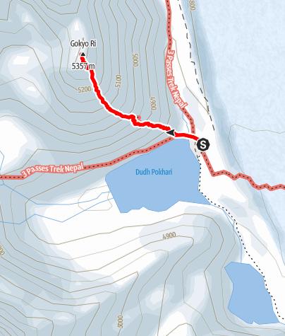 Map / 21.3. - Gokyo - Gokyo Ri - Gokyo