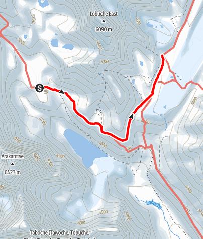 Map / 24.3. - Dzongla to Lobuche