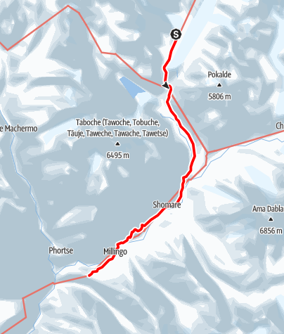 Map / 27.3. -  Lobuche - Pheriche - Tengboche