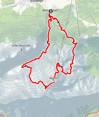 Karte / Alpspitzbesteigung