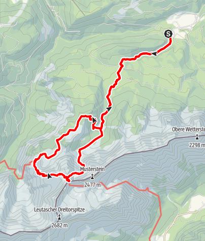 Karte / Bergtour zur Meilerhütte