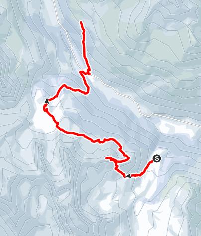 Map / Buffère Crête de Baude - RicouTour planned at March 14, 2016