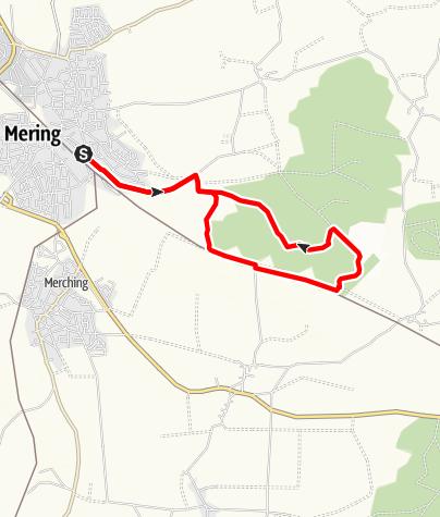 Karte / DAV Mering - Hartwaldweg
