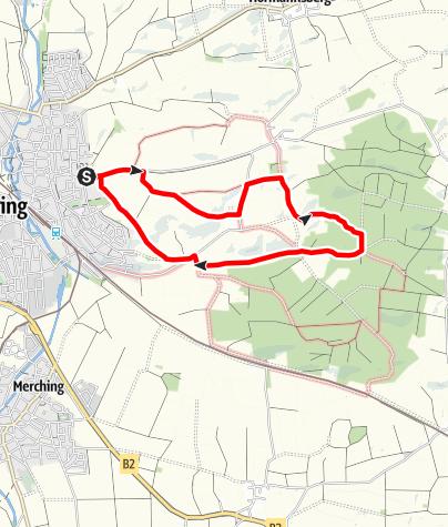 Karte / DAV Mering - Kirchbergweg
