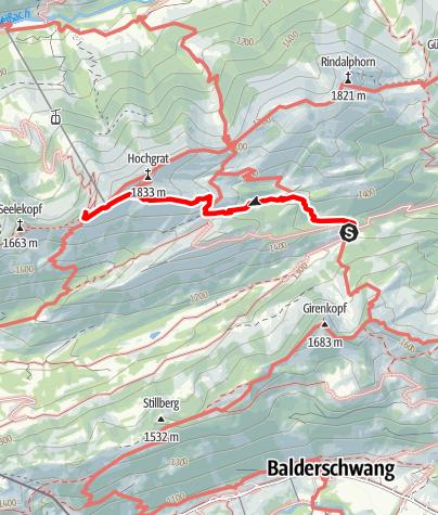 Karte / Staufner Haus, aus dem Gunzesrieder Tal / Alpe Scheidwang direkt