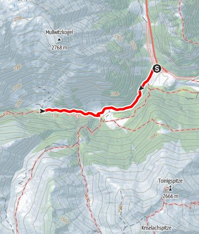 Karte / Kleine Umbaltal-Runde