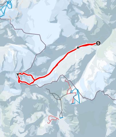 Map / Weißkugel (3738m) from Hochjoch-Hospitz
