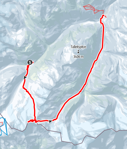 Map / From Hochjoch-Hospiz over Finailspitze to Vent