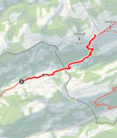 Karte / Staufner Haus, vom Lecknertal