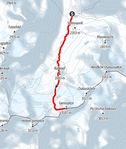 Karte / Gemsspitze