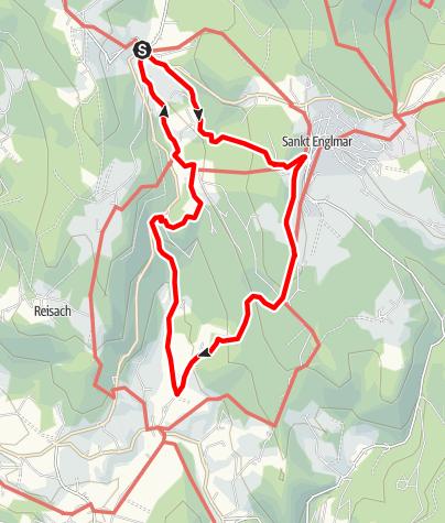 Karte / Nagelsteiner Wasserfälle von Grün