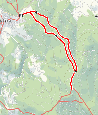 Karte / Hirschenstein über Hohenried von St. Englmar