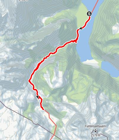 Karte / Aufstieg Kärlingerhaus über Saugasse