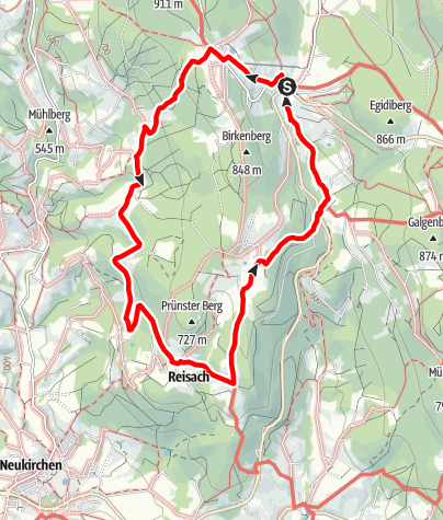 Karte / Prünsterberg-Panorama-Tour von Grün