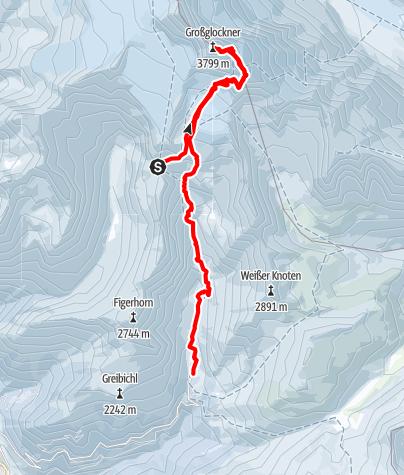 Karte / 20160430 Stüdlhütte - Großglockner - Lucknerhaus