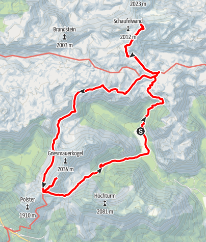 Karte / Rundwanderung Sonnschienhütte, Ebenstein, TAC-Spitze