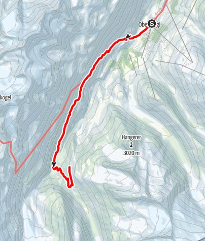Karte / Schäferweg zur Langtalereckhütte - IM MOMENT (2019) GESPERRT