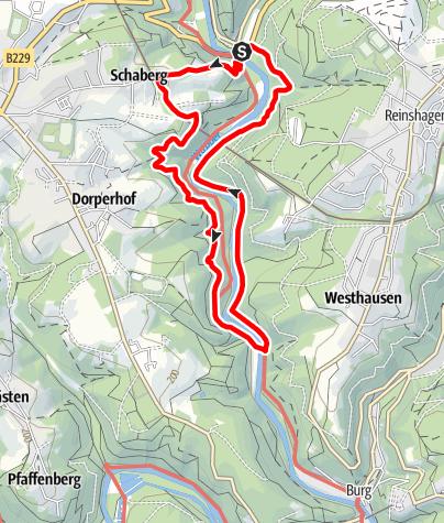 Karte / Müngstener Brücke und Seilfähre