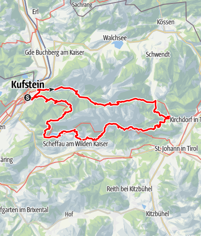 Map / 5 Tages Wandertour um den Wilden Kaiser