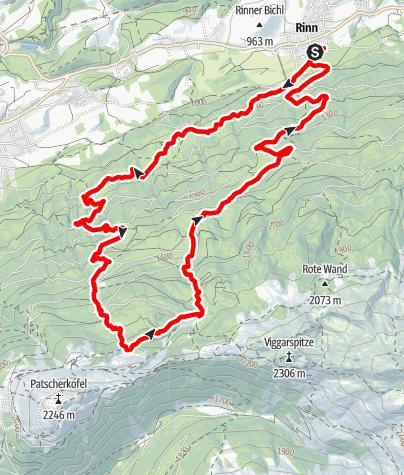 Karte / 3-Almen-Trail-Runde
