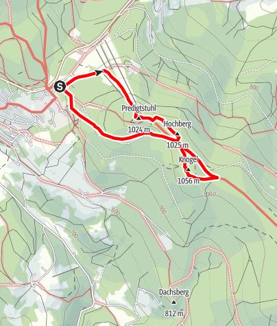 """Karte / Naturlehrpfad """"Wildes Waldgebirge"""" St. Englmar"""